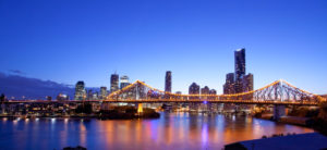 skyline view of brisbane city australia