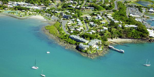 Aerial Airlie Beach Whitsundays Australia