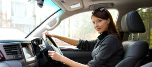 young woman in new car hire in port hedland