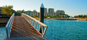 bridge and skyline view of darwin australia