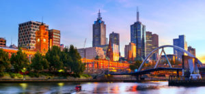 skyline view of melbourne australia