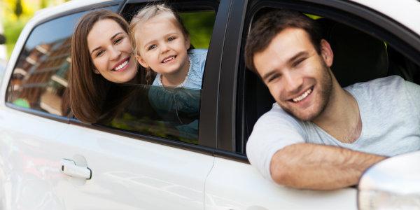 A family enjoying roadtrip