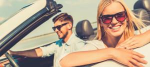 couple enjoying the road trip